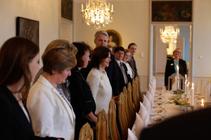 Tom Laine having lunch with HM the Queen of Sweden early 2015