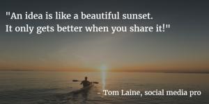 Tom Meemi Idea is like sunset